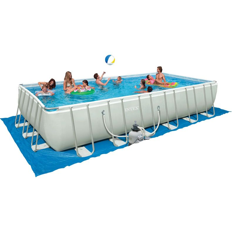 Intex 28361eh Rectangle Power Steel Frame Quick Pool