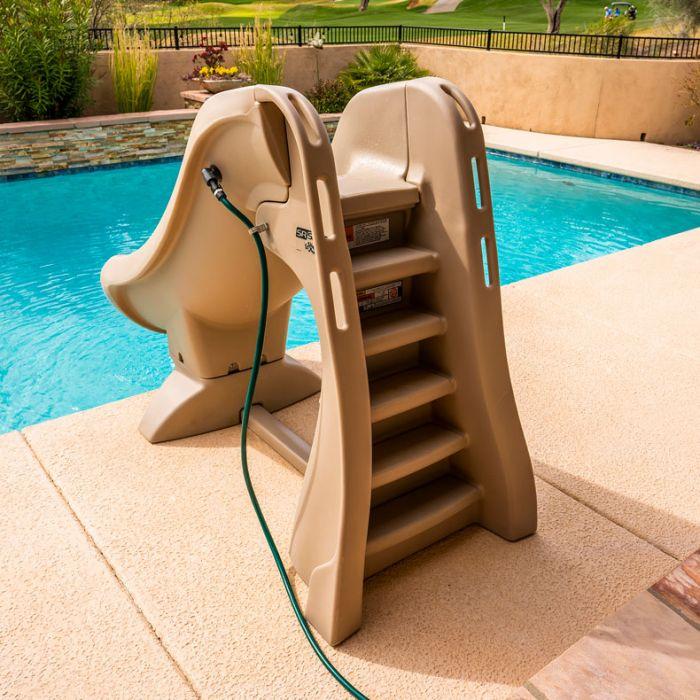 Sr Smith 660 209 5810 Slideaway, Portable Water Slide For Inground Pool