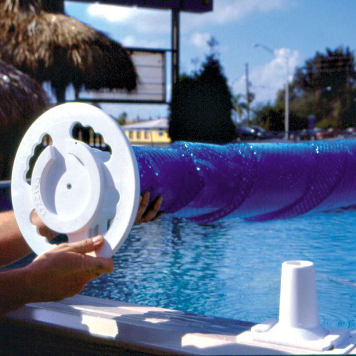 Above Ground Deluxe Solar Cover Reel, Above Ground Pool Cover With Deck